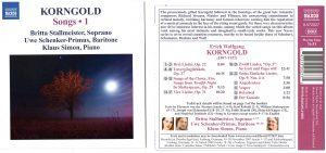 Erich Wolfgang Korngold – Songs Vol. I