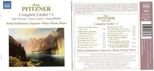 Hans Pfitzner – Complete Lieder I